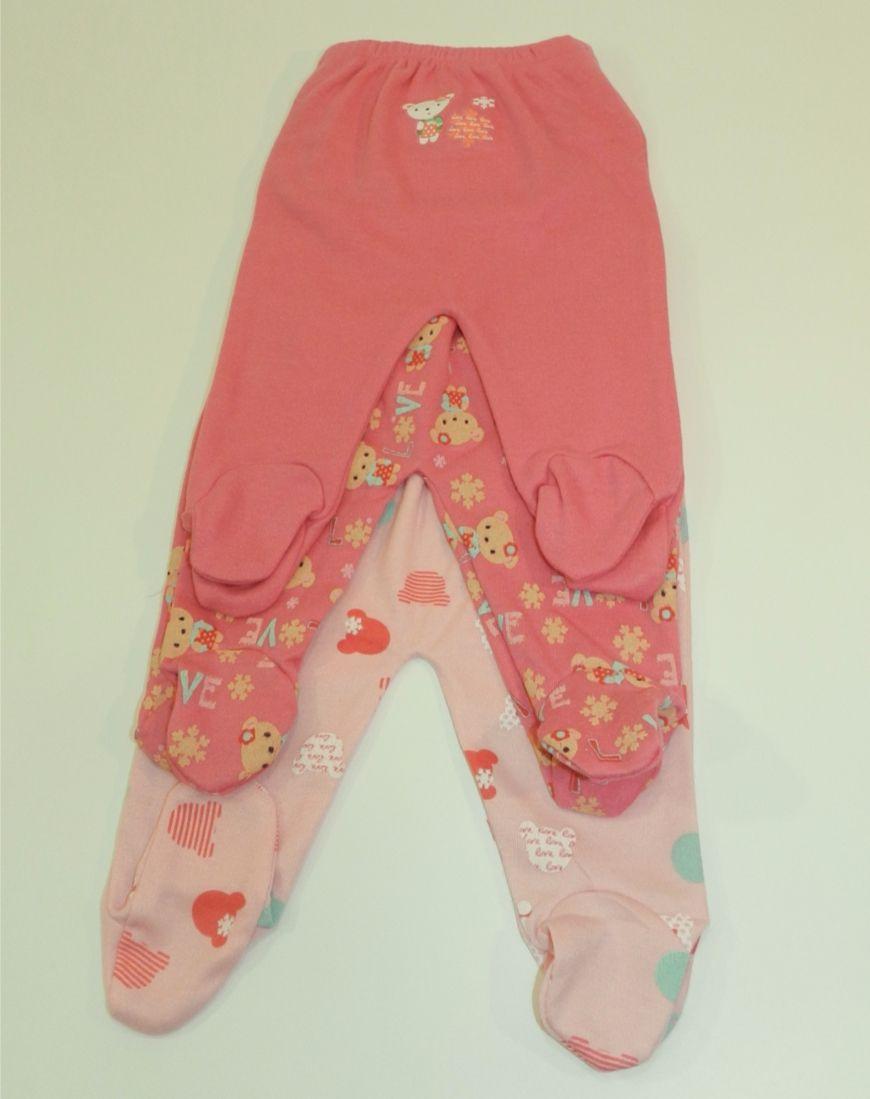 Pantalón Con Pie Pink Bear 3 Piezas