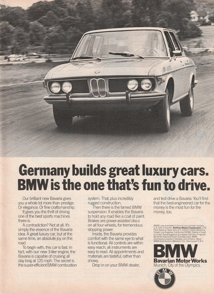 1969-1975 BMW - the one that\'s fun to drive - vintage ad ...