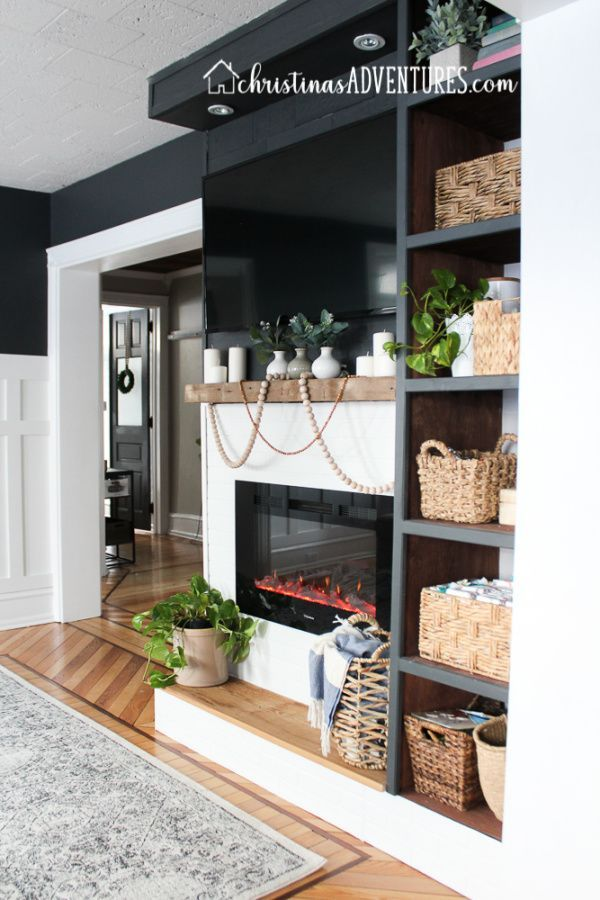 our new built in electric fireplace living room design ideas rh pinterest com