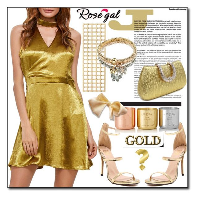 """""""Gold Girl by Rosegal 45/I"""" by esma178 ❤ liked on Polyvore featuring Tom Dixon"""