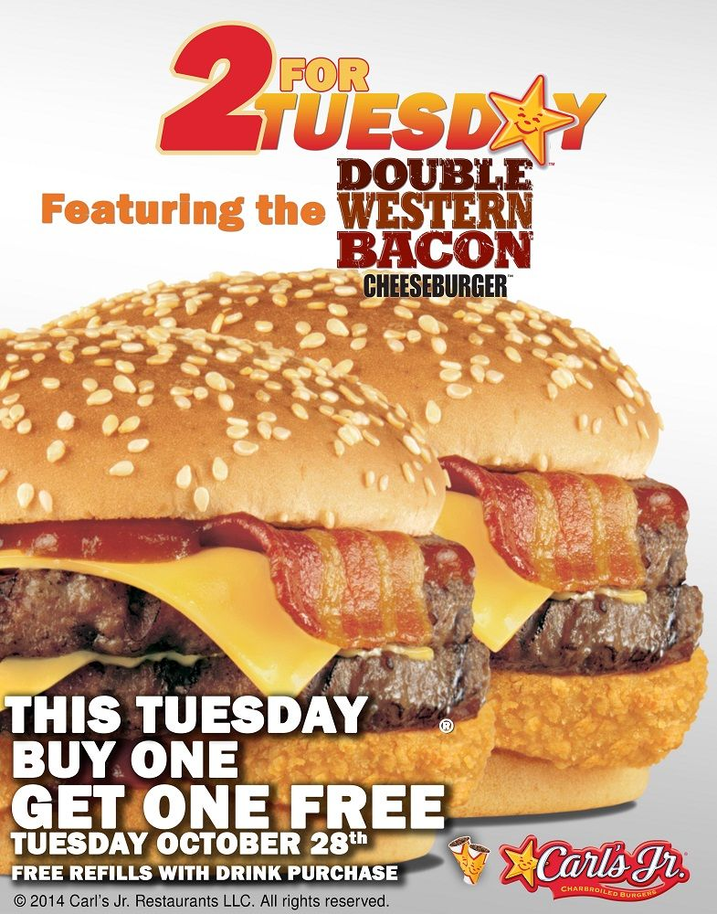 Buy One Double Western Bacon Cheeseburger & Get One Free ...