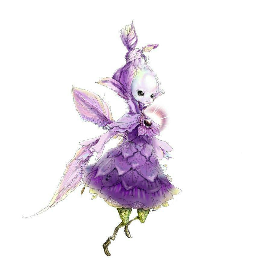 Purple sylph | Misc  Images | Fantasy creatures, Fantasy art