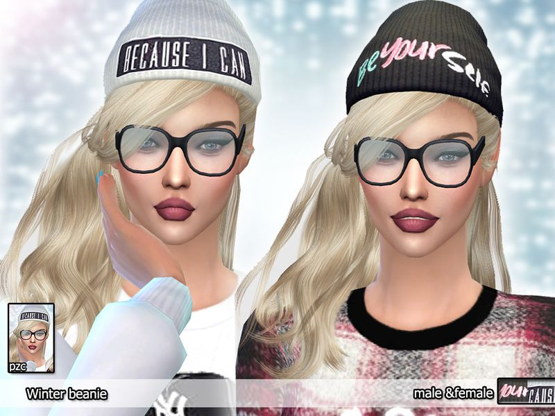 26a877442a9 Cool and original beanies for your male and female sims       Found in TSR  Category  Sims 4 Female Hats