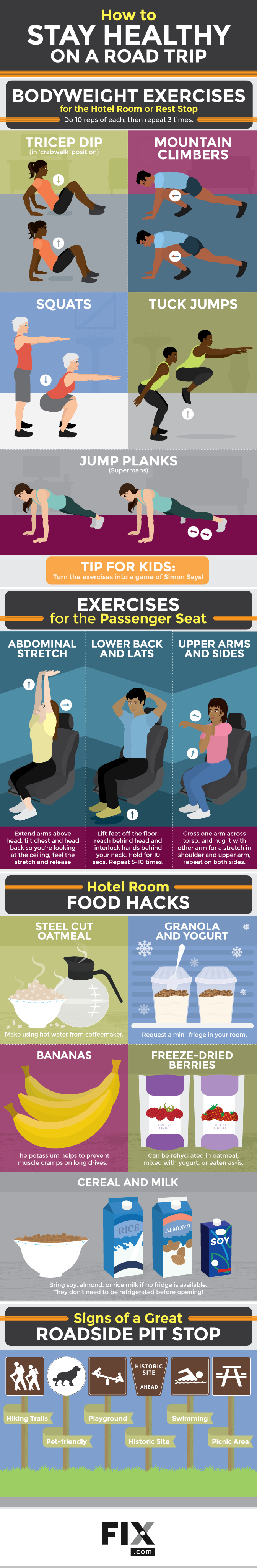 How to Stay Healthy on a Road Trip