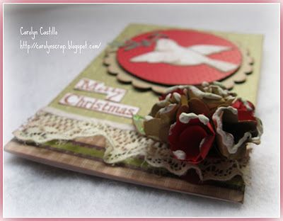 Carolynscrap: tutorial flor y tarjeta de navidad