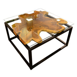 99801fd485f87 T25 Square Coffee Table - Teak+Metal 80 in 2019