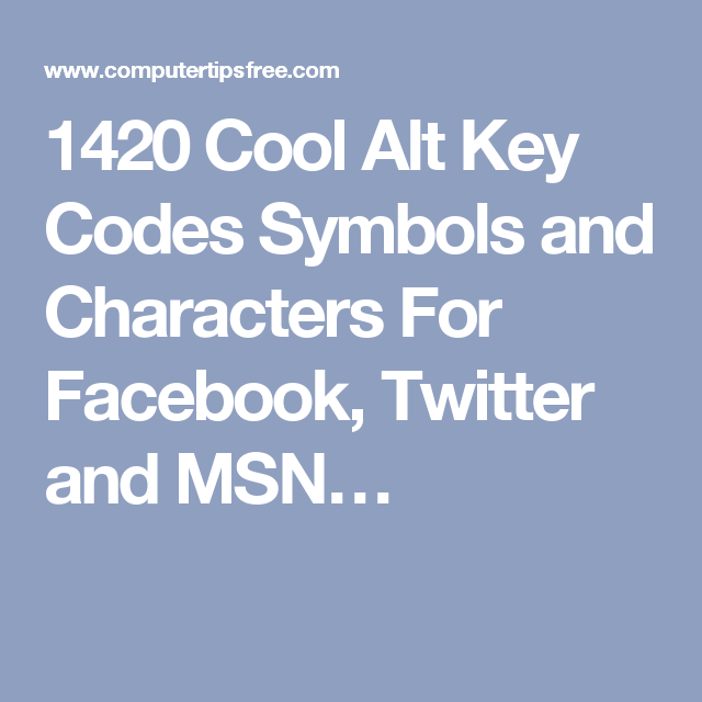 Cool Symbols For Facebook Gallery Free Symbol And Sign Meaning
