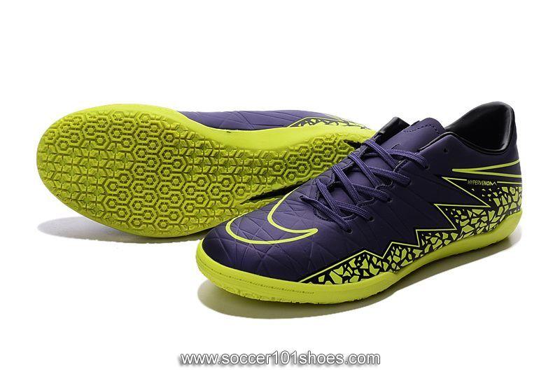 8fada2881 Nike Men s Hypervenom Phelon II IC Indoor Football Soccer Shoes Purple  Yellow  73.00