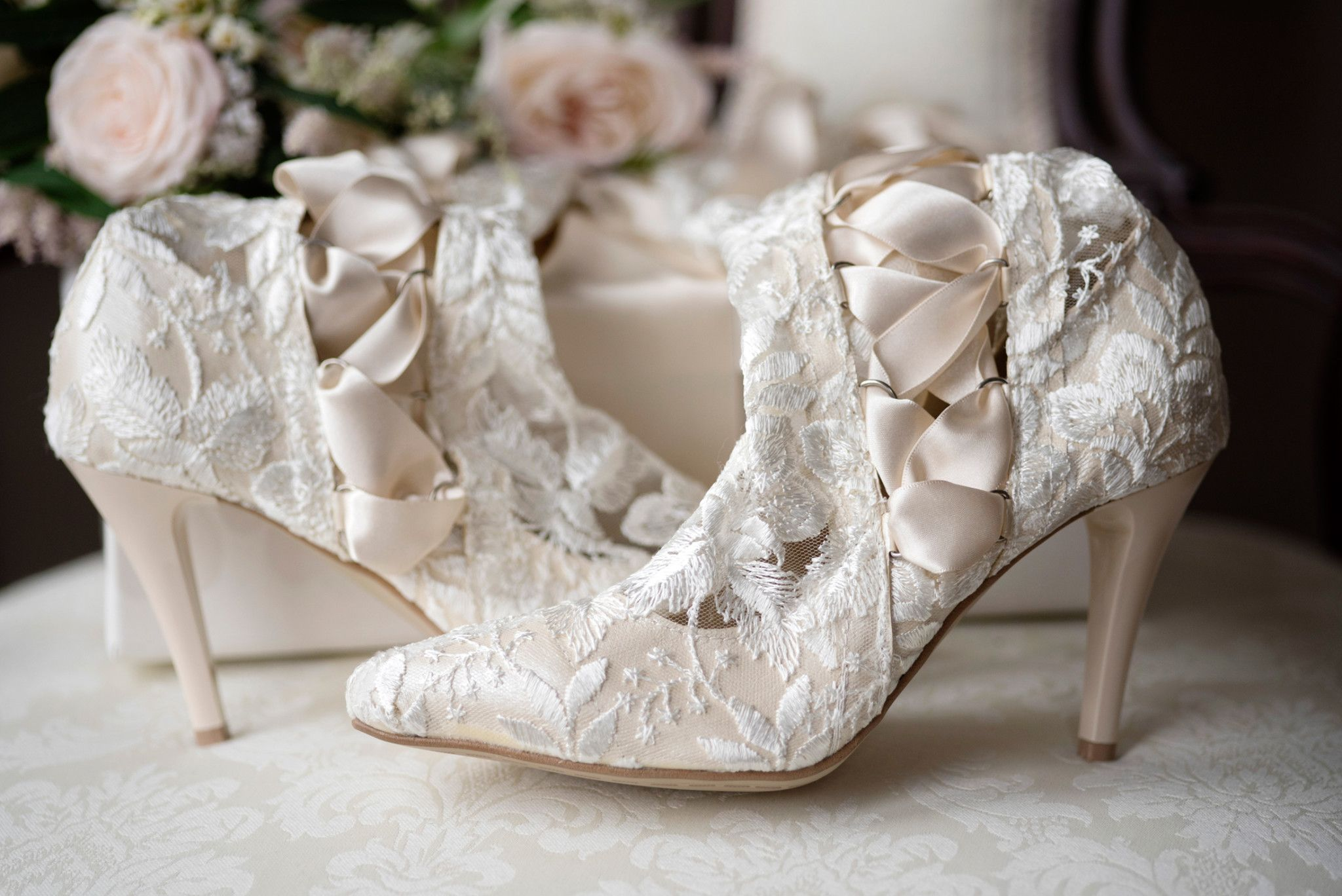 Vintage Wedding Boots And Shoes Lace Weddings Veil