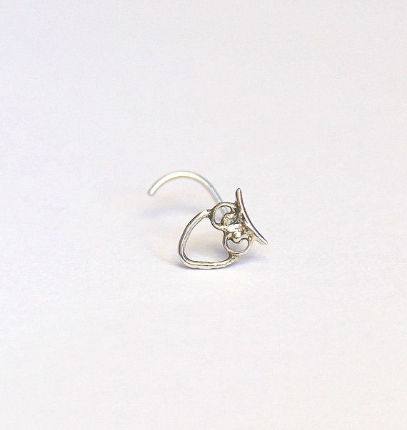 Butterfly Nose stud - nose jewelry - Silver nose stud 925 - An owl stud - gipsy style - young at heart #doublenosepiercing