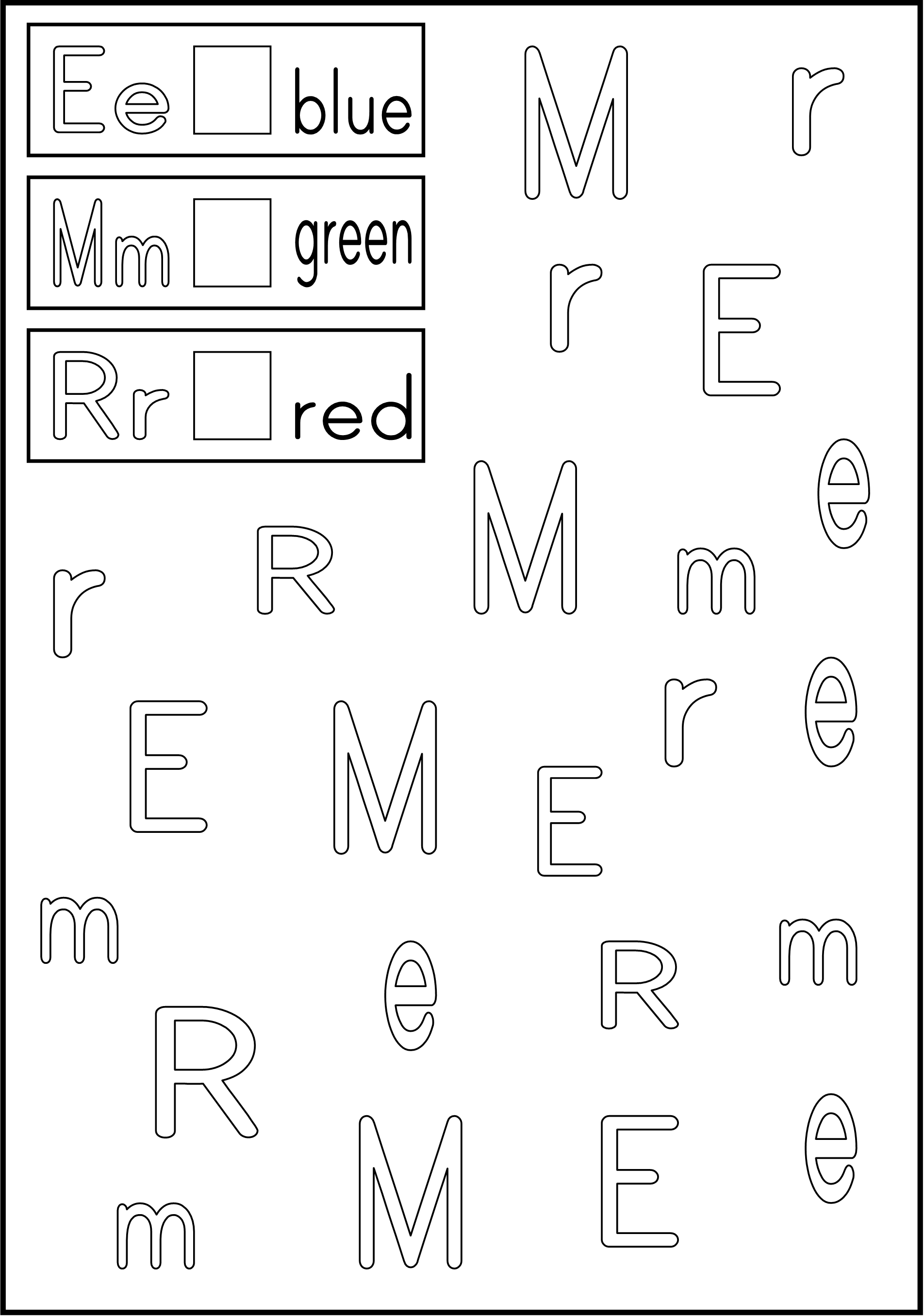 Alphabet Activity - Follow the directions/ trace within the lines ...