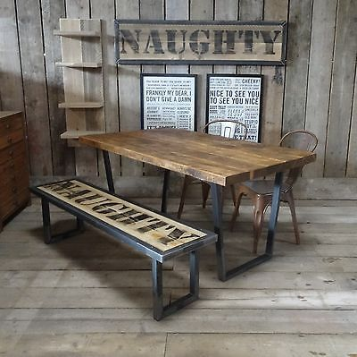 John Lewis Calia Style Extending Vintage Industrial Reclaimed Top Dining Table In Home Furniture DIY Tables