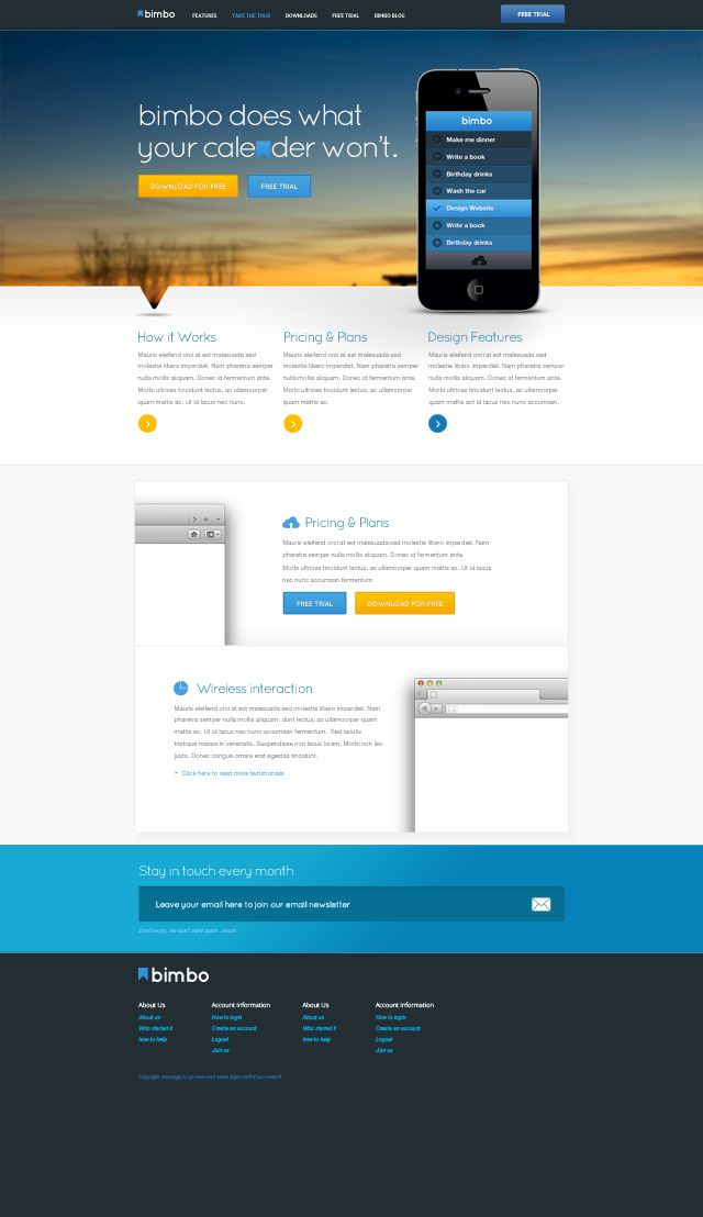 Ios Website Free Psd Template