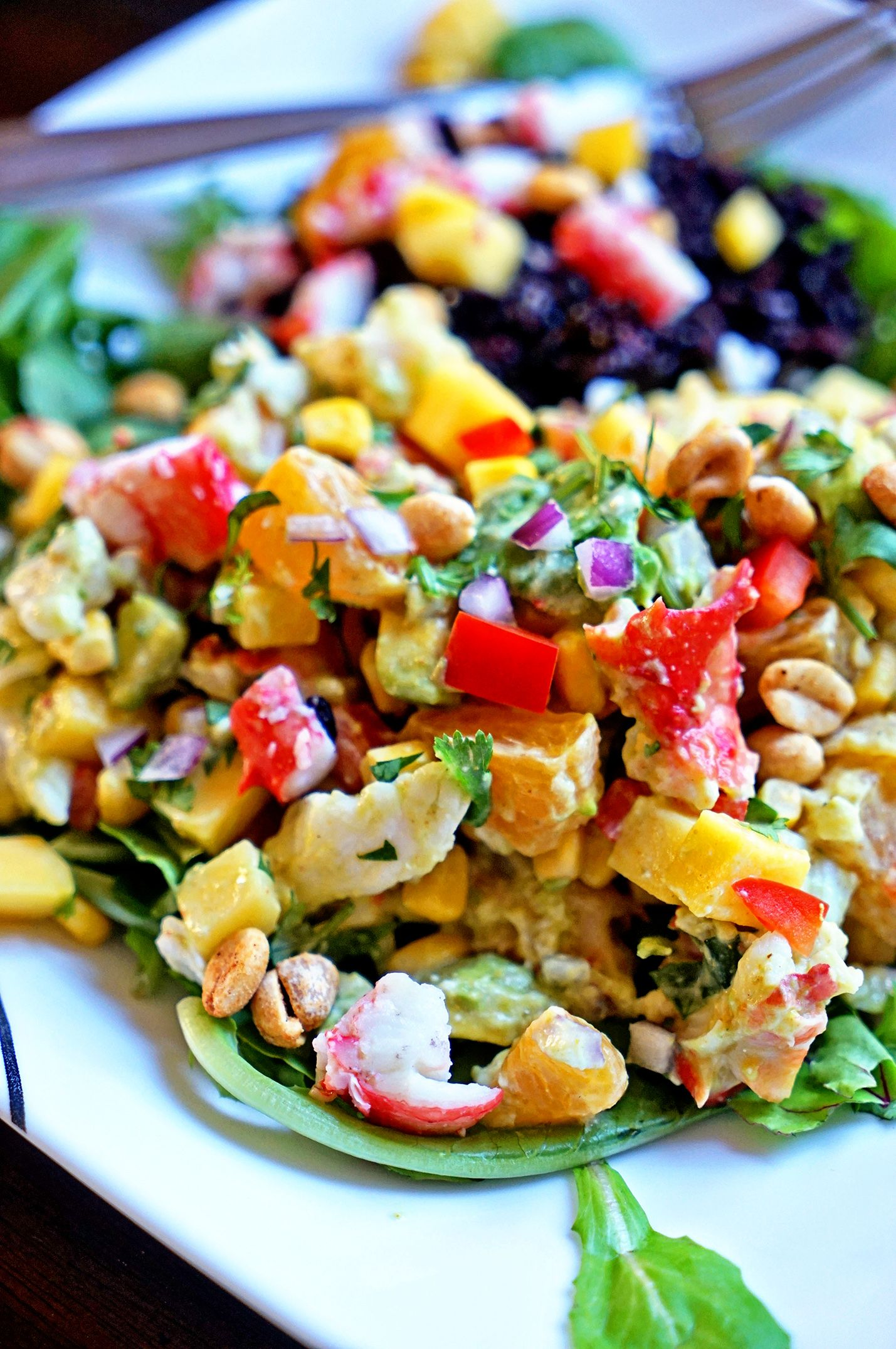 Papaya Crab Salad with Black Rice