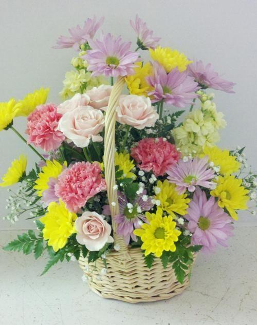 Pretty Birthday Flower Basket From Roadrunner Florist Basket