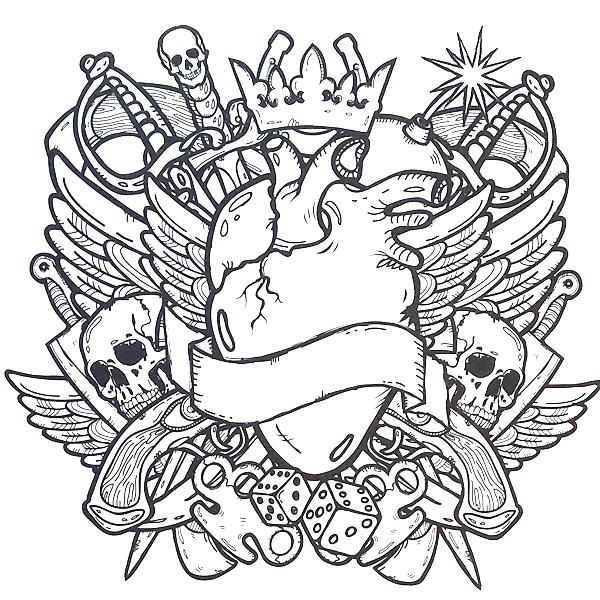 Coloring Rocks Tattoo Coloring Book Skull Coloring Pages Cool Coloring Pages