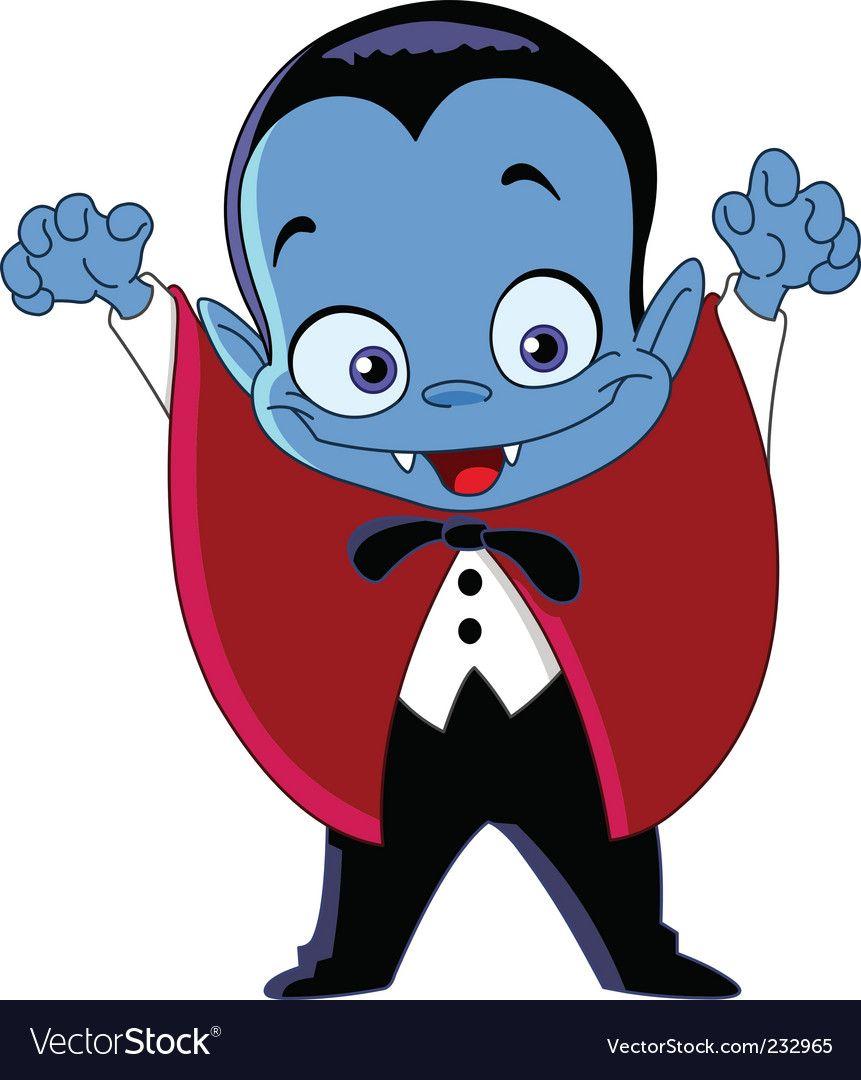 Vampire Kid Vector Image On Vampire Cartoon