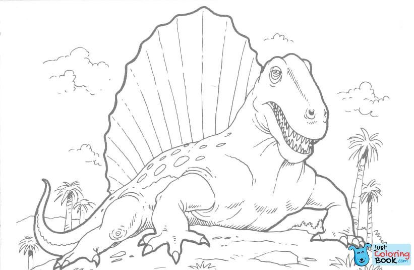 Dimetrodon Dinosaur Coloring Page Free Printable Coloring Pages