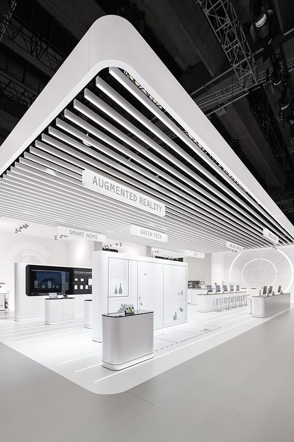 Exhibition Hall Booth : Futuristic brand space for stiebel eltron exhibition exhibition