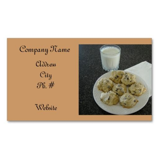 Chocolate chip cookie business card template chocolate business chocolate chip cookie business card template colourmoves