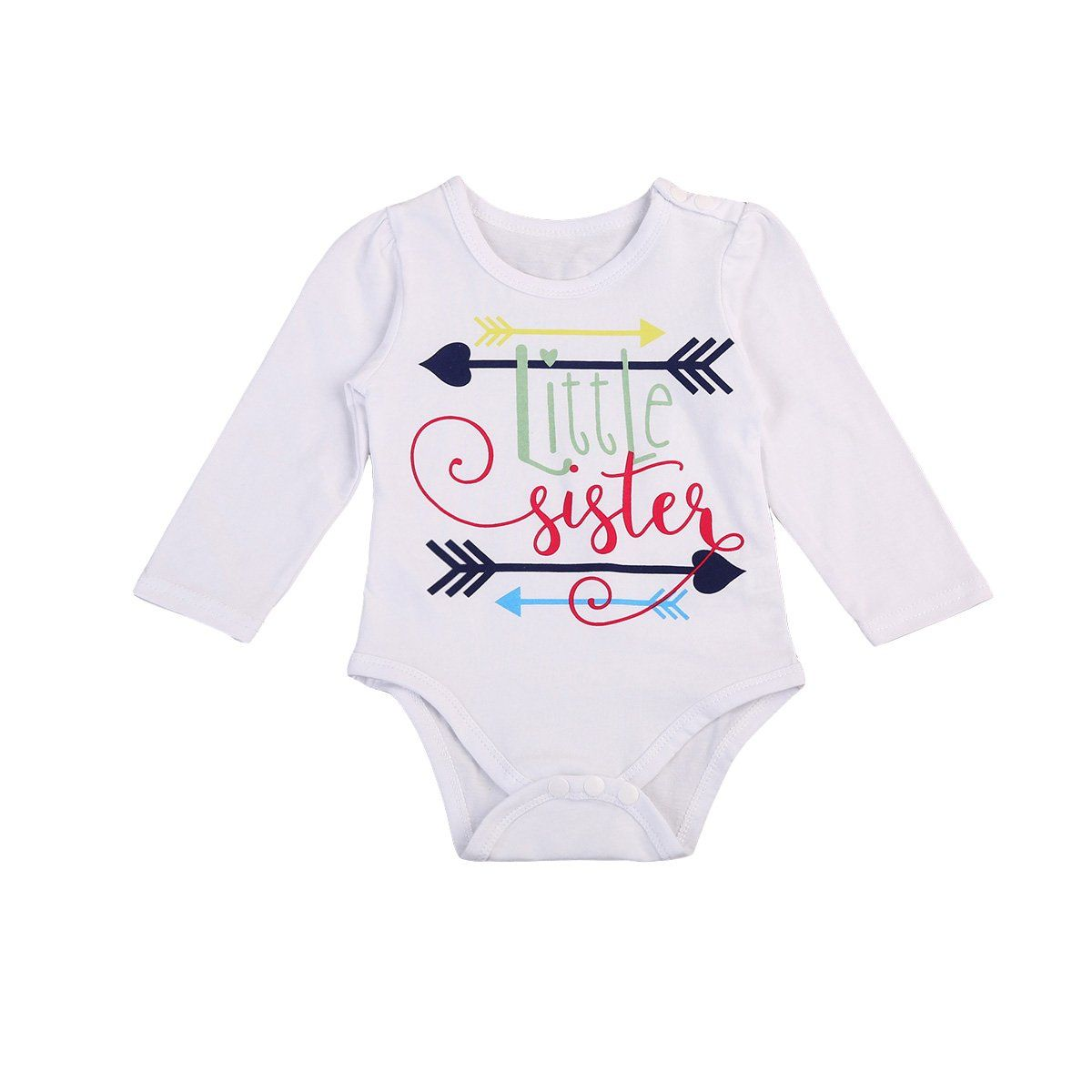 415cd4892 Toddler Baby Girl Little Sister Arrows Print Long Sleeve T-shirt ...