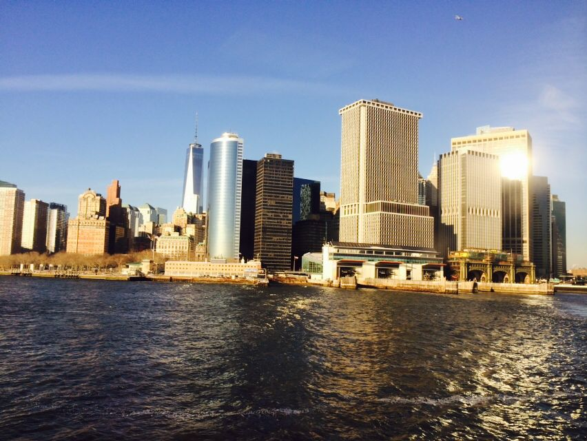 View of New York City on the ferry ride to Staton Island