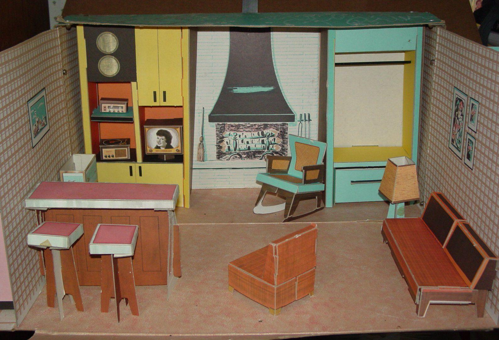 Tammy S Ideal Cardboard Doll House 1963 Vintage Barbie