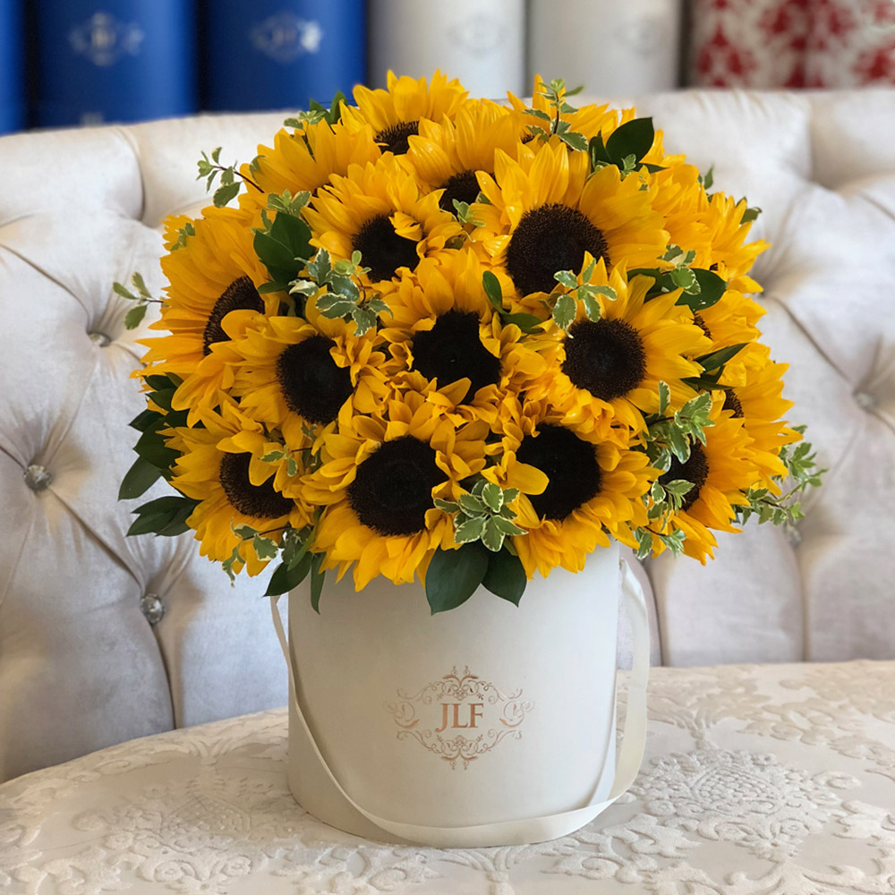 Mixed Flowers Signature Mix Collection Los Angeles In 2020 Sunflower Floral Arrangements Sunflower Arrangements Blue Flower Arrangements