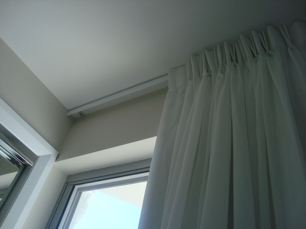 Furniture Superb Automated Curtain Track System Also Hidden