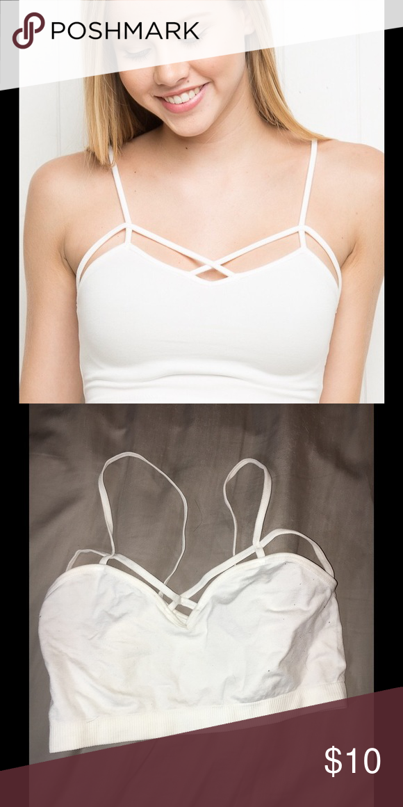 Brandy Melville crossed bralette Brandy Melville crossed bralette. Never worn! Brandy Melville Intimates & Sleepwear Bras