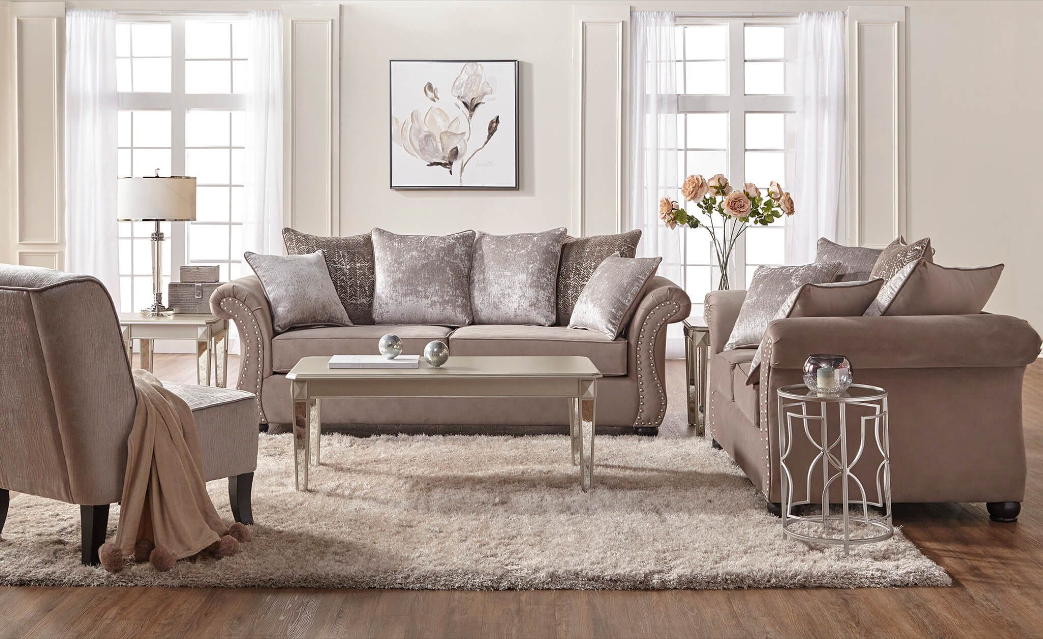 7500 Cosmo Putty Sofa And Loveseat Living Room Sets Furniture