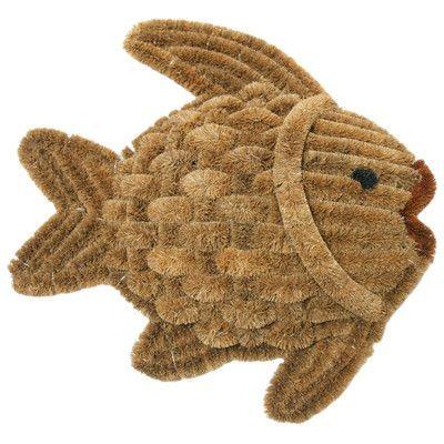 Rubber-Cal, Inc. Fish Scraper Decorative Doormat | Products ...