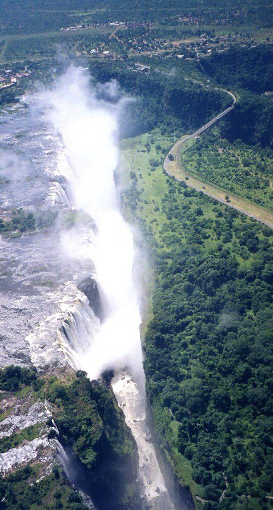heli view. Hwange, Zimbabwe