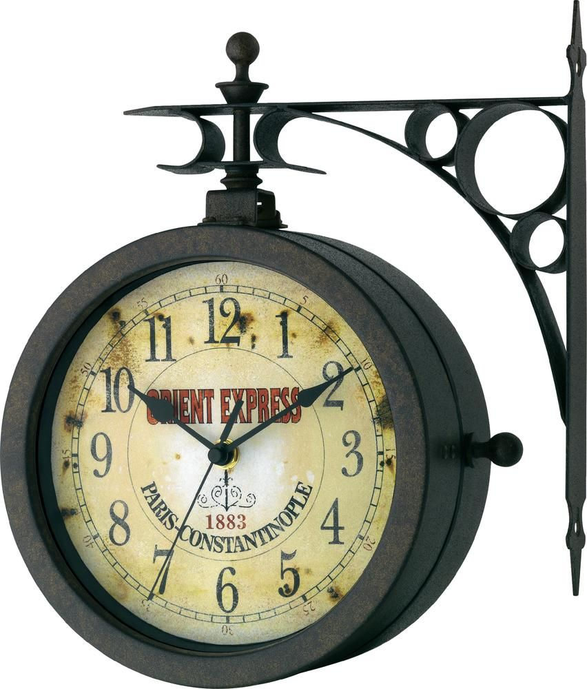 Tfa orient express nostalgische wandklok met thermometer x h nostalgia thermometer outdoor wall clock on sale for amipublicfo Images