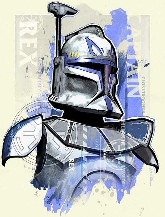 Captain Rex By Rexyb On Deviantart Star Wars Painting Star Wars Canvas Art Star Wars Images