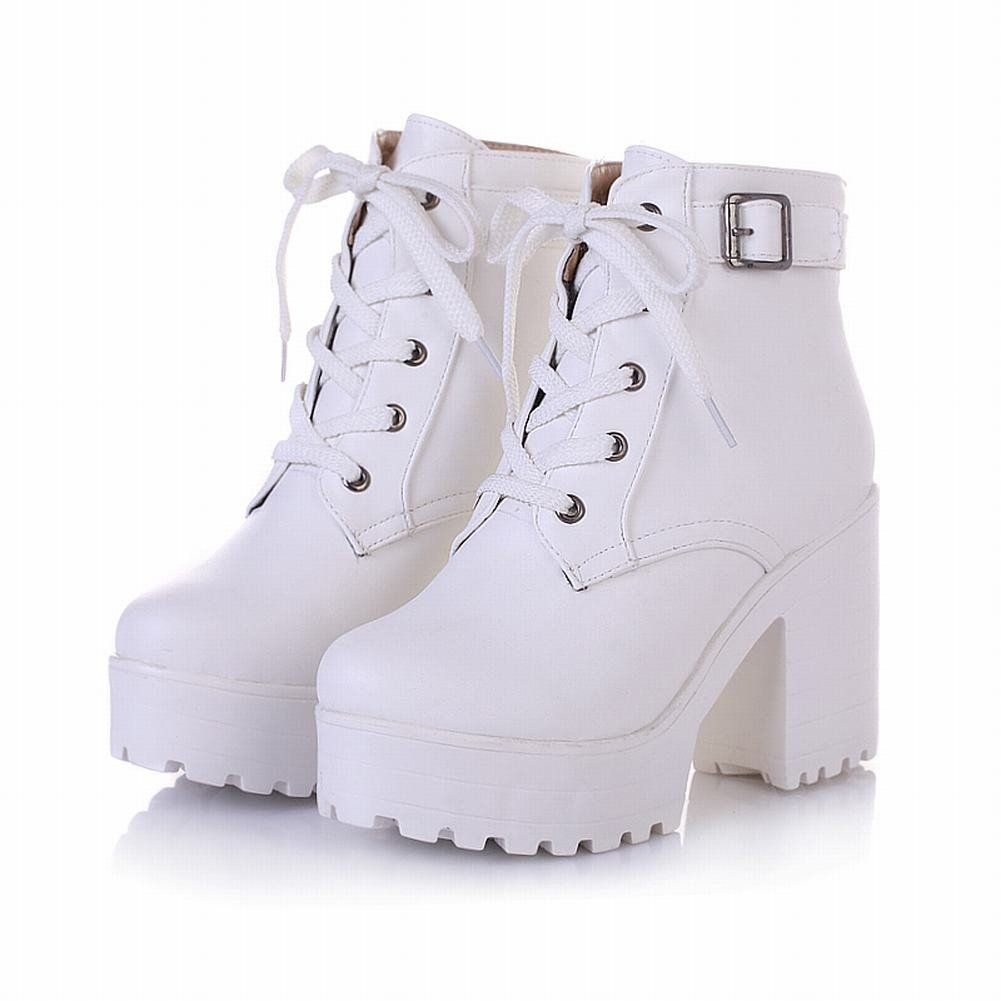 Rain boots fashion, Womens chunky heels