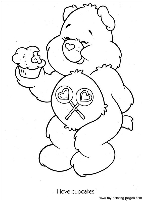 Care Bears Coloring020  Crafty 80s Care Bears Coloring