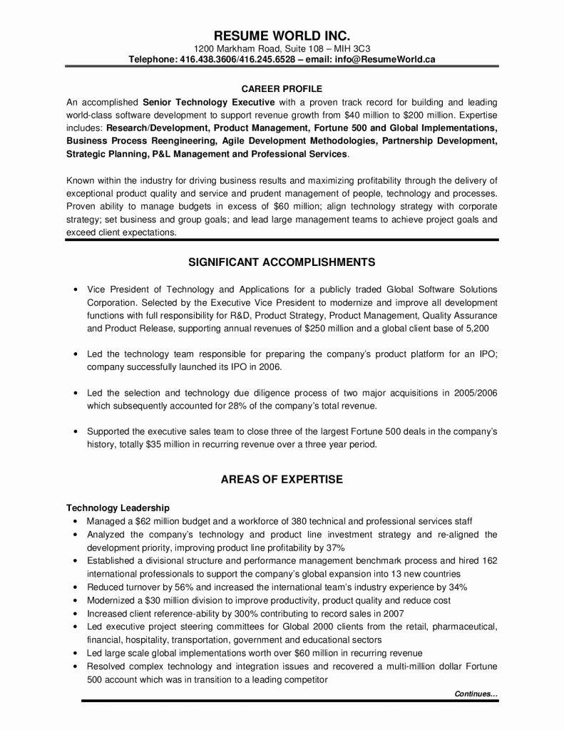Free Executive Resume Templates Elegant Executive Resume