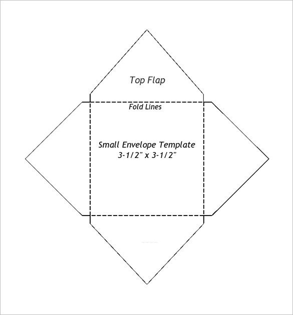 Small Envelope Templates   Free Printable Word Pdf Psd Format