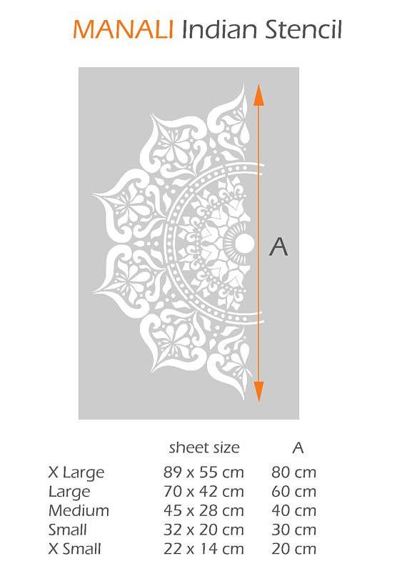 Mandala Stencil Reusable DIY Craft Mylar Big Size Stencil Home decor boho decor indian room decor stencils