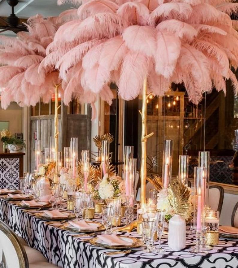 10 Pc BLUSH OSTRICH FEATHERS 14-16