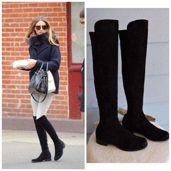 Stuart Weitzman Woman Leather Over-the-knee Boots Black Size 9 Stuart Weitzman 891h0oHHy
