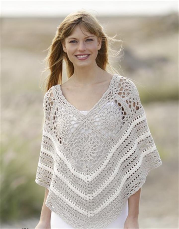 24 Adorable Summer Poncho Free Crochet Design