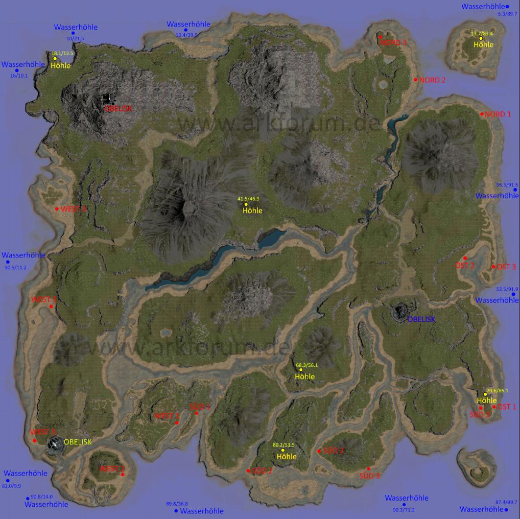 Ark Karte The Island.Ark Karte Ark Ark Map Survival