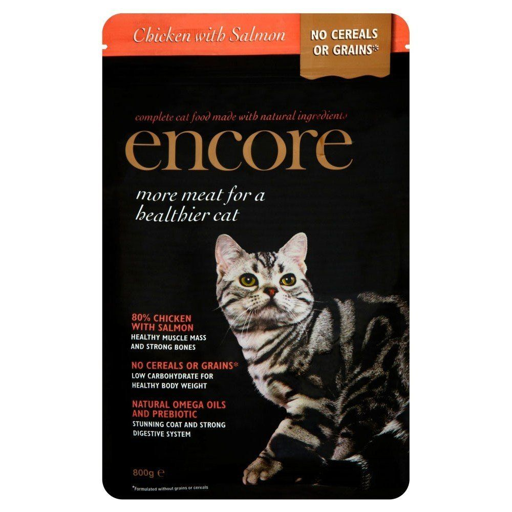 Encore dry cat food chicken and salmon 800g you can
