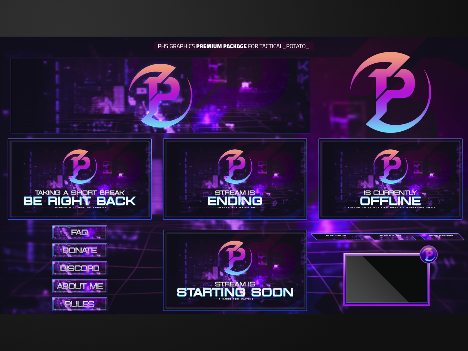 Twitch Overlays For Tactical Potato Overlays Gaming Banner Cool Animations,Fractal Design Define R5 White