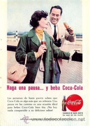 Página Publicidad Original *COCA-COLA · Símbolo de Buen Gusto* Pareja -- Vintage - Año 1959