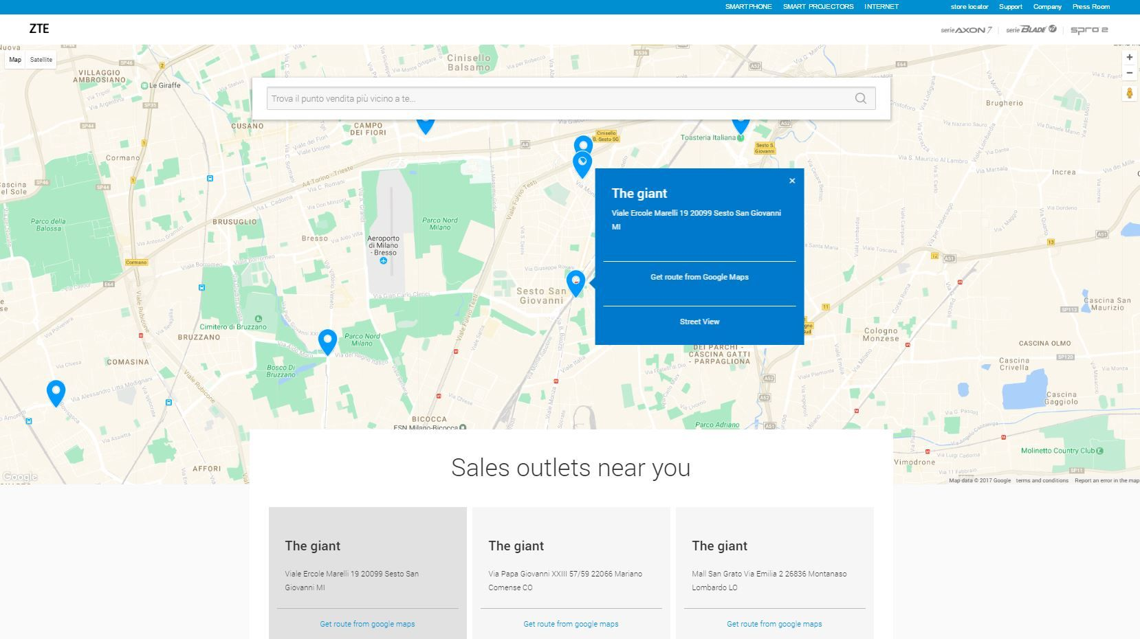 Store Finder Find Zte Sales Outlets Near Your Area Http Ztedevices It Store