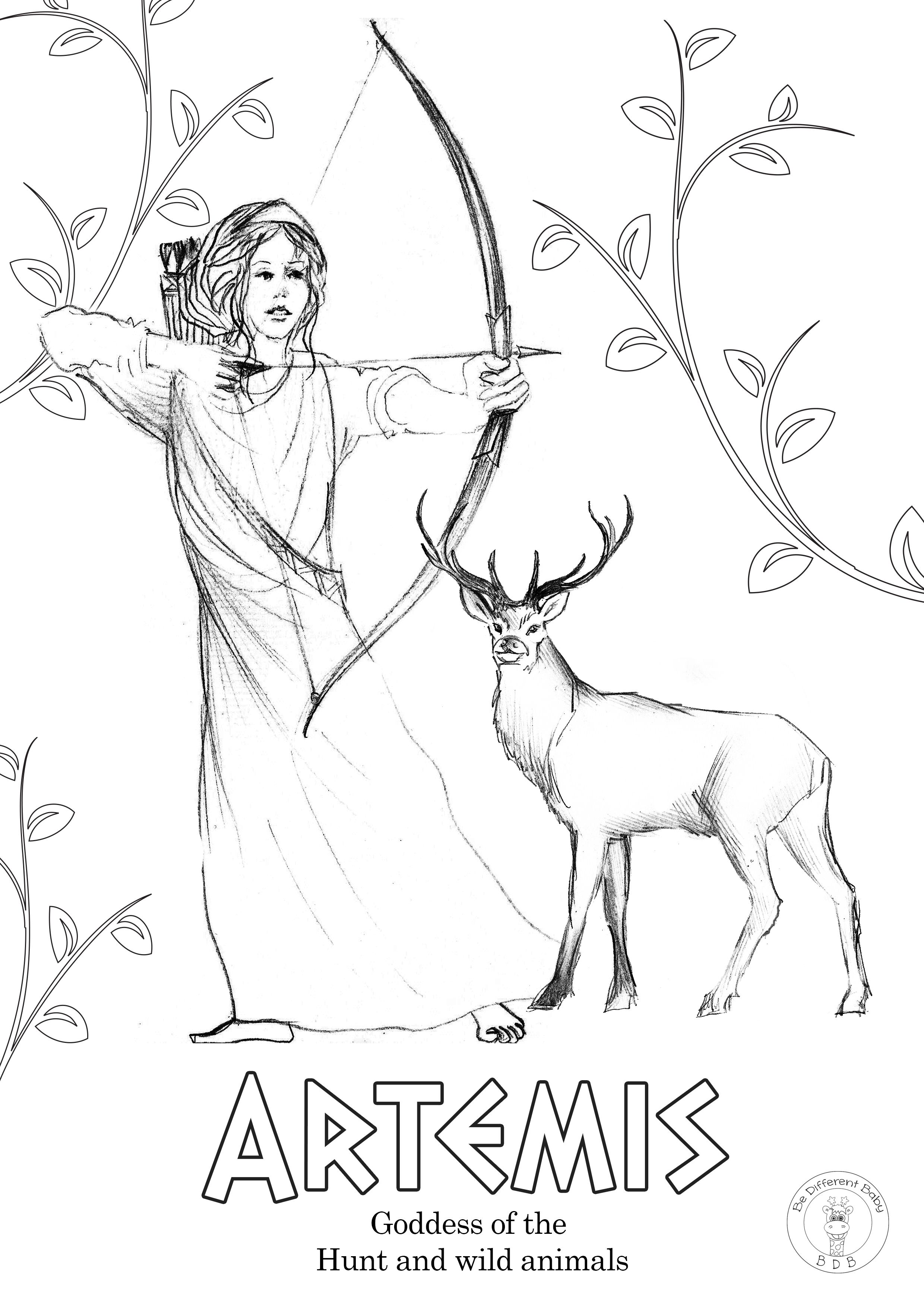 Greek Gods Coloring Pages Be Different Baby Greek Gods Coloring Pages God Illustrations
