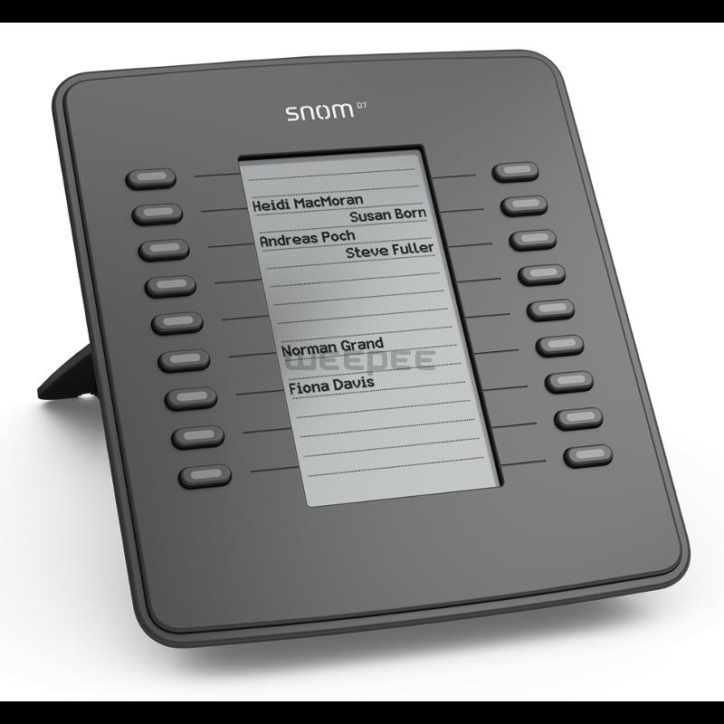 Snom D7 Expansion Module Grey Compatibel met alle snom 7-series telefoons met USB poort